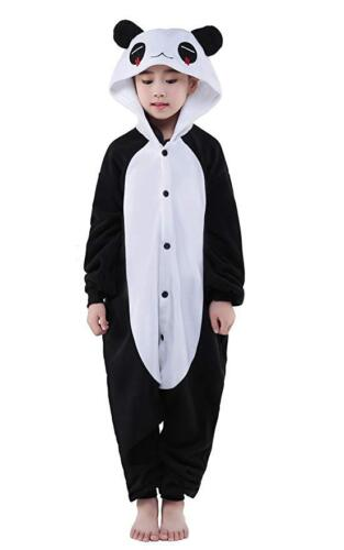 Kids Panda Kigurumi Animal Cosplay Costume Onsie126 Pajamas Sleepwear Halloween