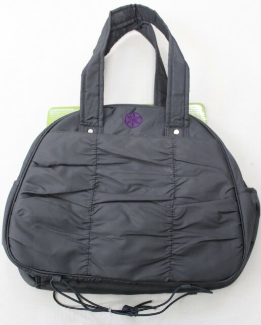 Gaiam Metro Gym Bag With Strap For Yoga Fitness Mat Gray Charcoal