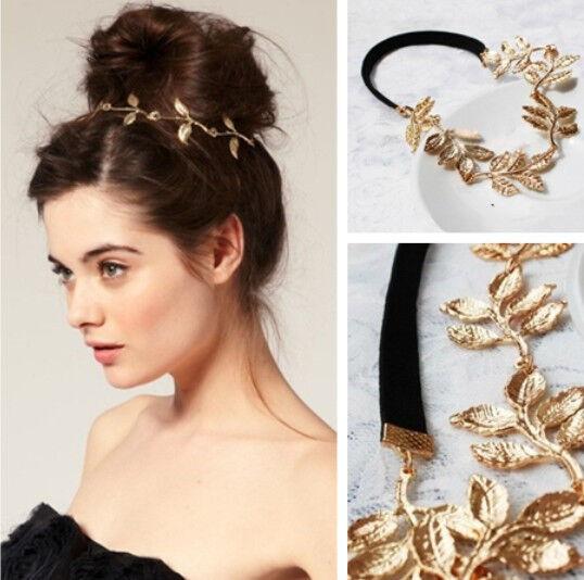 New Elegant Women's Girls Retro Vintage Hollow Leaf Elastic Hair Band Headband