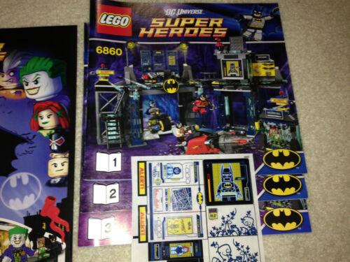 Lego NEW 6860 Batman Batcave Instructions Sticker Set Comic ONLY