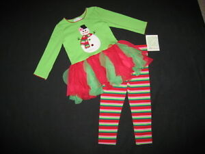 Good Lad 24M Baby Girls Snowman Set Outfit Size 24 Months NWT Christmas Winter