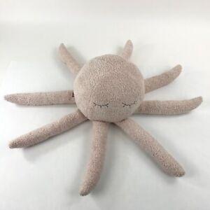 Barefoot-Dreams-Plush-Octopus-Buddie-Stuffed-Animal-Toy-Hand-Knit-Pink