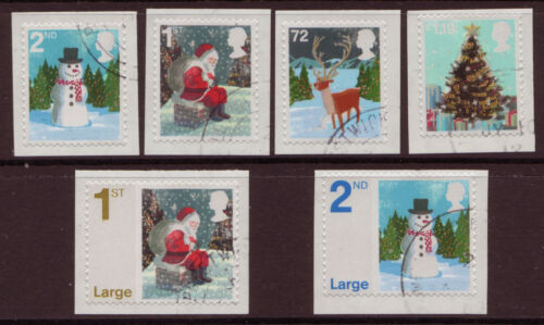 GREAT BRITAIN 2006 CHRISTMAS SET OF 6 FINE USED