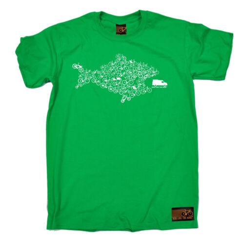 Eco Fish Bike Environmental T-SHIRT tee cycling jersey funny birthday gift 123t