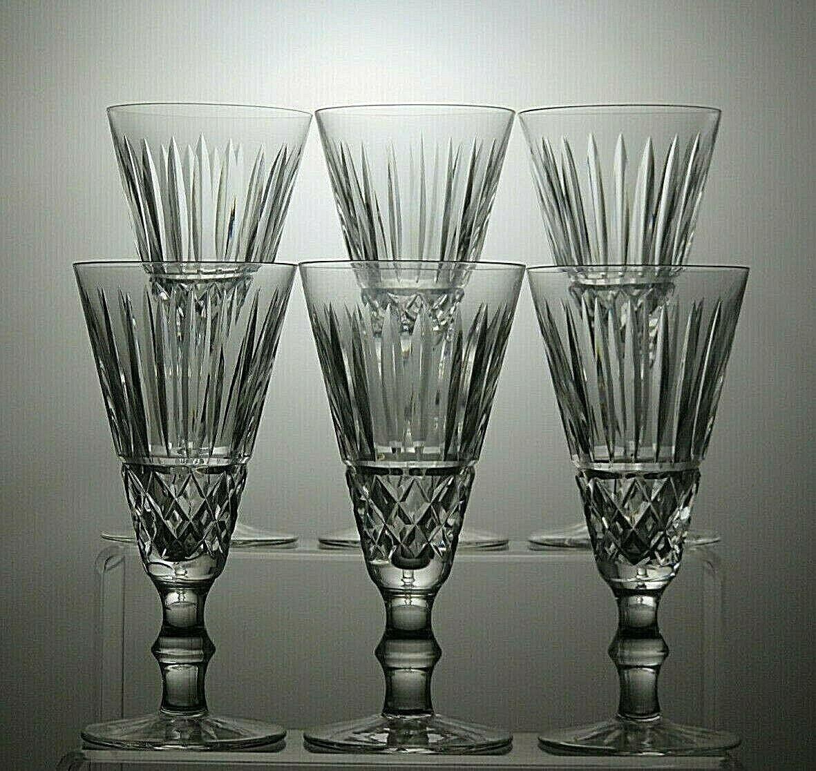 WATERFORD CRYSTAL  Tramore  Coupe Flutes Champagne Lot de 6 - 6 1 4  Tall-signé