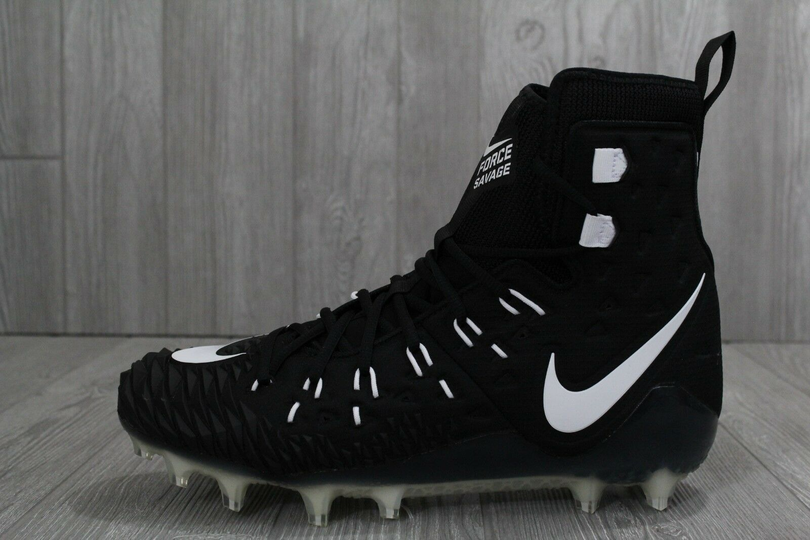 30 Nike Force Savage Elite TD Football Cleats Black White Size 11-13 857063-011