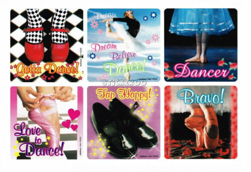 12 Ballet Ballerina Stickers Dance Tap Student Teacher Birthday Party Bag Favor