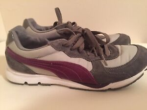 fast delivery size 7 quite nice Details about Puma sport lifestyle Evertrack Running Shoe Size 8.5 gray &  purple Women's