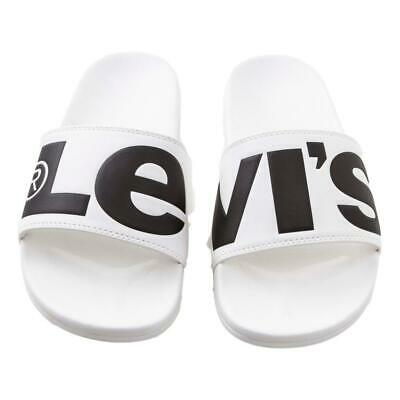 Levi/'s NEW Men/'s June L Flip Flops Regular Black BNWT
