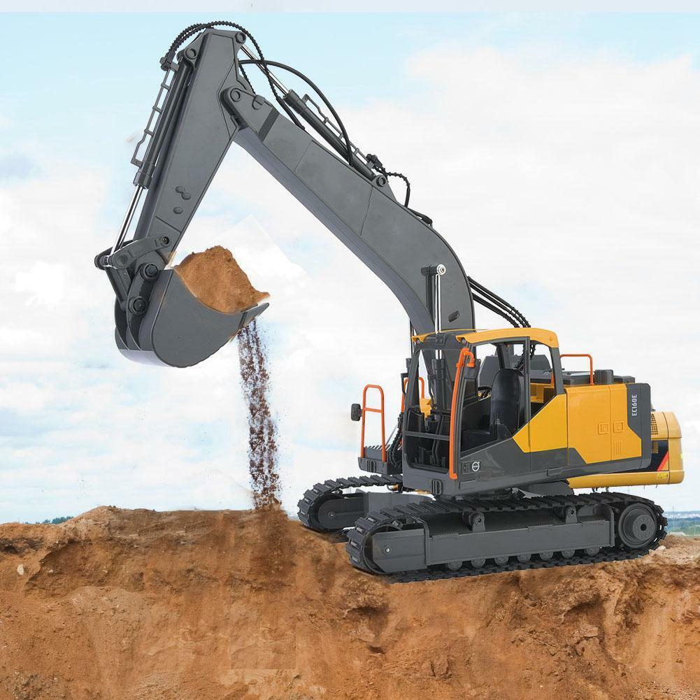 E568 1 16 2.4G Excavadora Construcción de control remoto remoto RC coche modelo de ingeniería  Más asequible