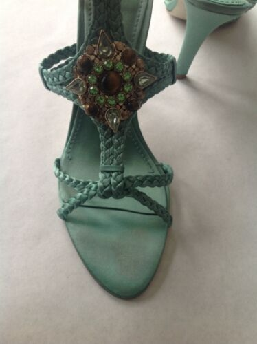 Unique Couleur Us8 West Eu39 Taille Nine Summer Ladies Vert Sandals nRw76HfHq