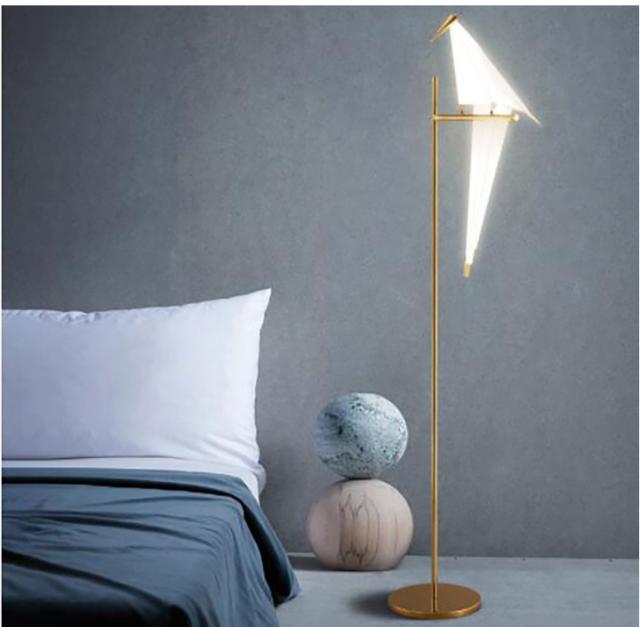 Led Bird Living Room Floor Lamp Bedroom Origami Floor Light Lamp Metal Lighting For Sale Online Ebay