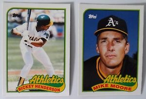Details About 1989 Topps Traded Oakland Athletics As Team Set Of 2 Baseball Cards