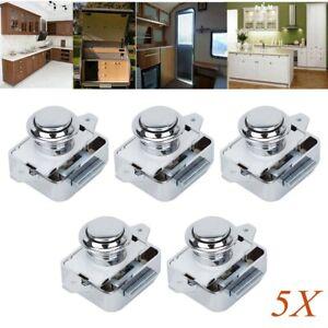 5x Push-Lock Mini Möbelschloss Druckschlösser Druckknopf für Boot /& Caravan