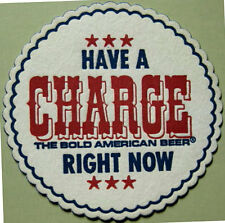 CHARGE BEER doily COASTER, MAT Huntington, WEST VIRGINIA, Closed in 1971