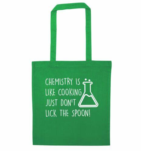 La chimica è come cucinare Tote Bag SCIENZA scherzo regalo GEEK Cottura Cucina 1971