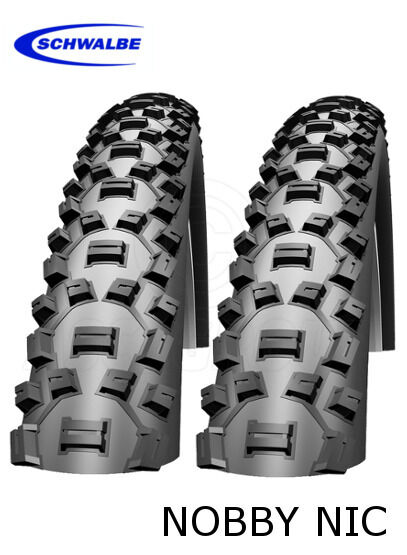 Schwalbe Nobby Nic 26  Tyre - 26x2.25  (57-559) (Wired) - 2 Tyres  sell like hot cakes