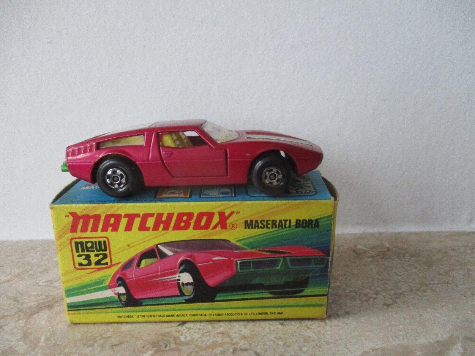 Altes MATCHBOX Superfast Nr.32 MASERATI BORA mit OVP OVP OVP von 1972 0a14ec