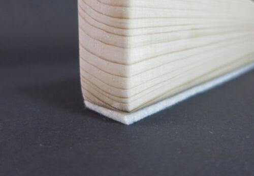 10m Filzstreifen 10mm breit 3mm dick stark selbstklebend Filzband weiß