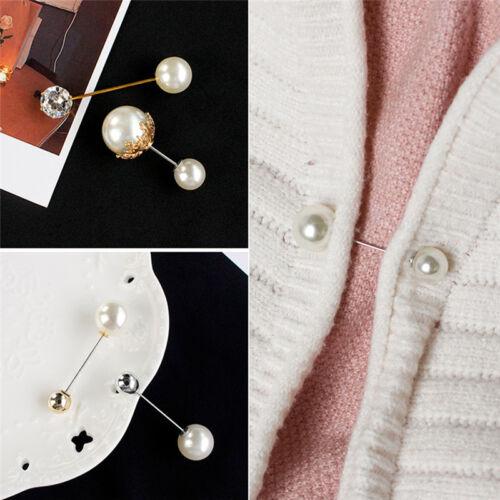 Große Nadel Perle Brosche Bouquet Pin Pullover Schal Schnalle Hochzeit  UE