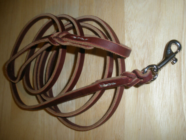 LATIGO LEATHER HAND STITCHED  DOG  LEASH 3/8