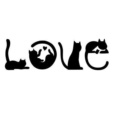 Custom Pet Heart Window Decal Stickers Cat Love Car Truck Decals Vinyl Decal Window Bumper Sticker Car Decor