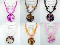 50 Pcs Wholesale Lot Costume Jewelry Shell Necklace Set