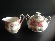 Royal Albert LADY CARLYLE Covered Sugar Bowl and Creamer