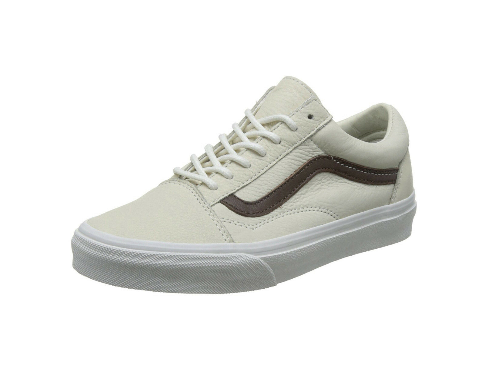 Vans Homme Femme Unisex Chaussures Old Skool (Leather) blanc de blanc potting soil