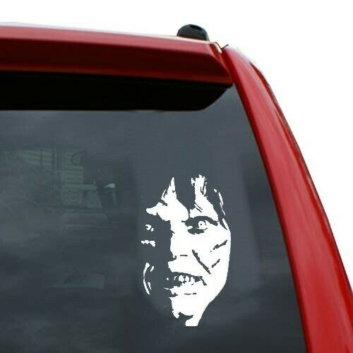 exorcist horror funny  sticker vinyl decal for car and others FINISH GLOSSY