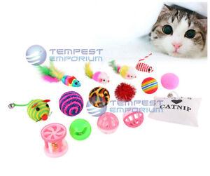 16 Pièce Interactive Jouet Pour Chat Lot Y Compris Souris Catnip Balls Rod New & Sealed-afficher Le Titre D'origine Kaxaof9i-10114631-910886457