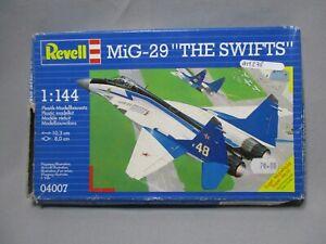 AM278-REVELL-1-144-MAQUETTE-AVION-MIG-29-THE-SWIFTS-REF-4007-BON-ETAT-INCOMPLET