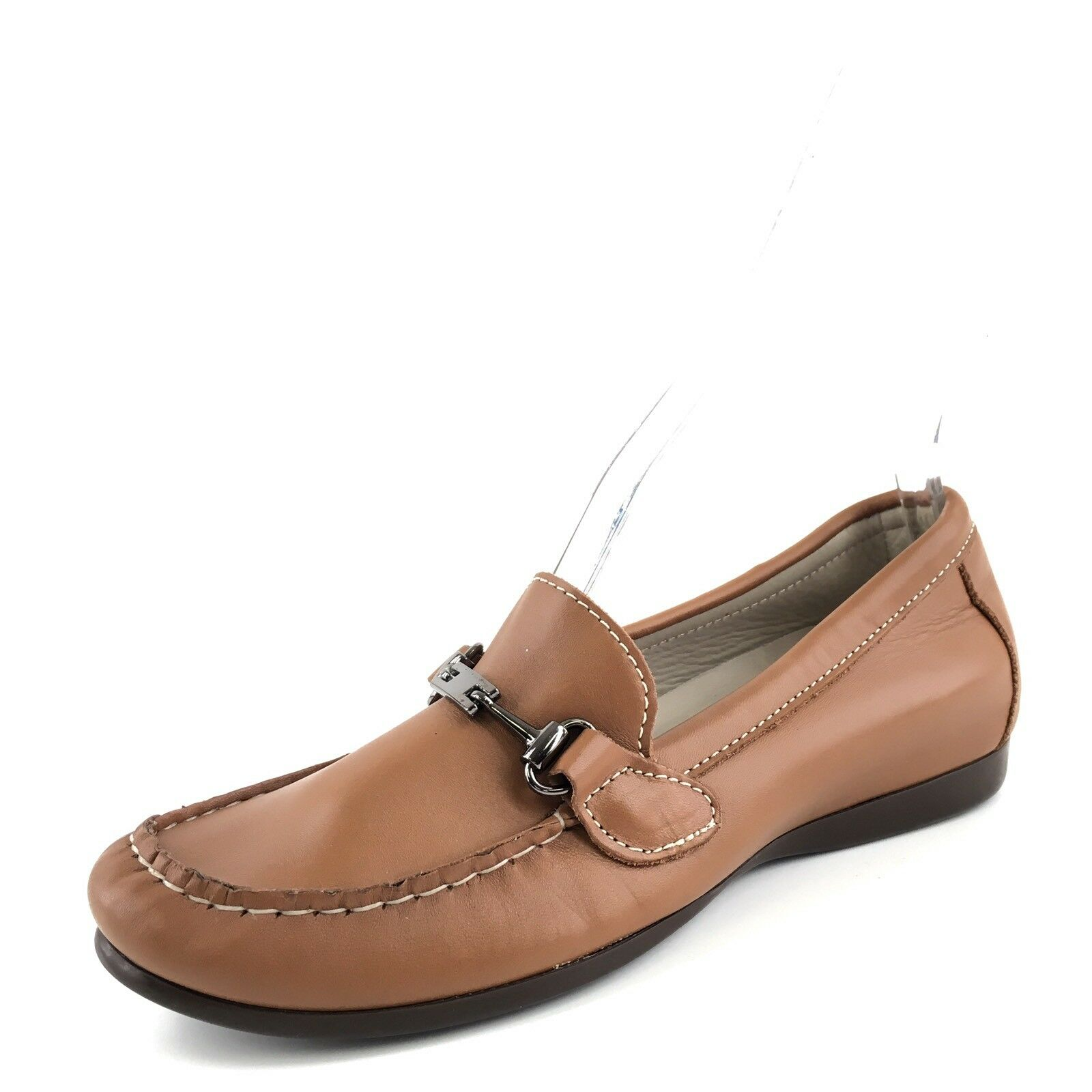 New Munro American Women's Brown Leather KIMI Horse Bit Loafers Size 5.5 M*