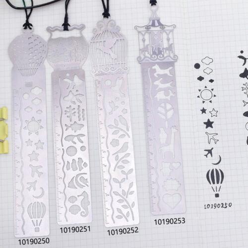 """1 1//3*5 1//2/"""" Stainless Steel bookmark stencil notebook Journal Stencils 1pcs"""