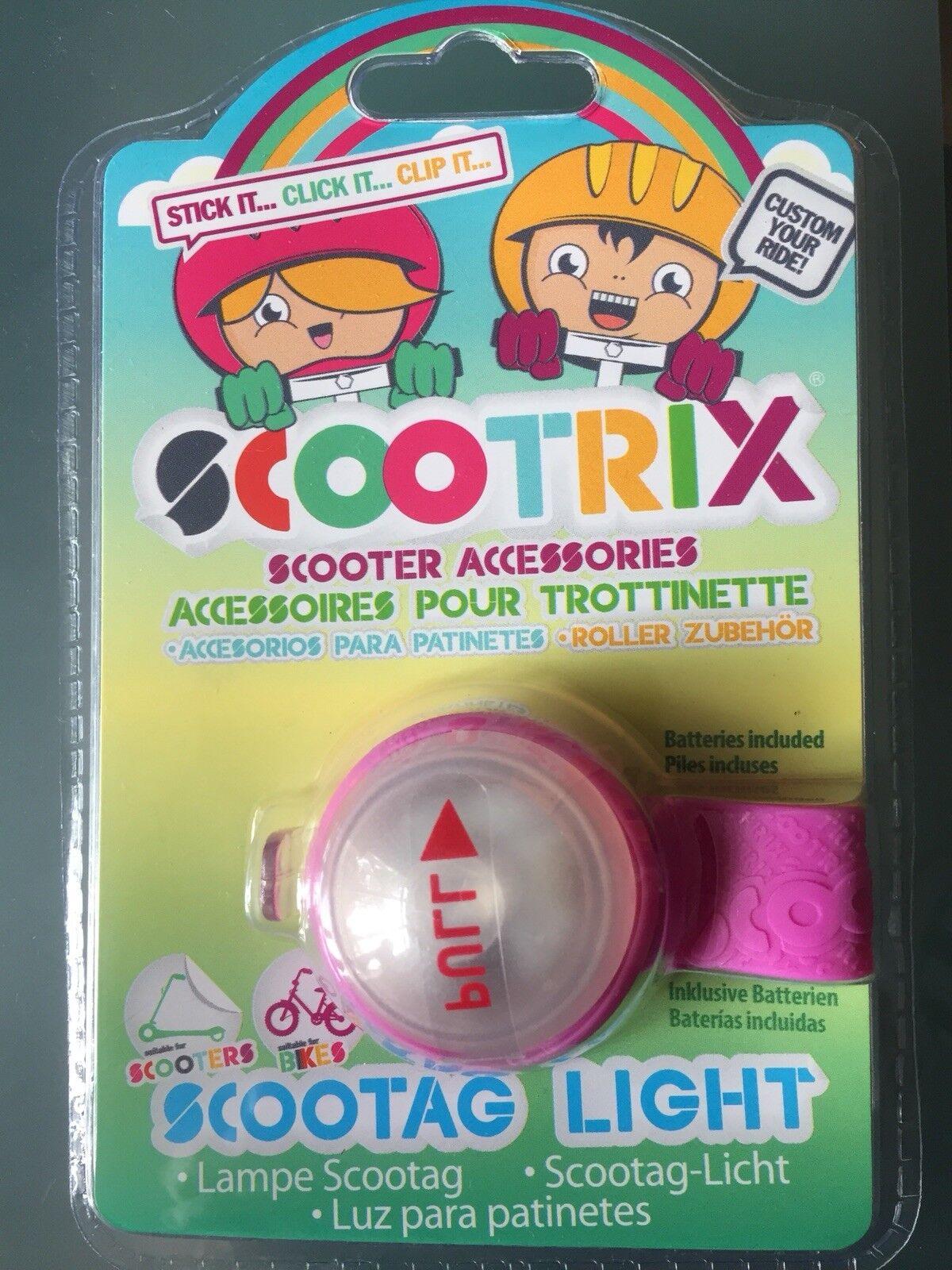 80 x scootrix scootag kinder silikon - roller und fahrrad licht machen.