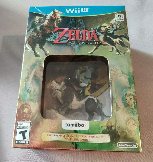 Legend of Zelda:Twilight Princess HD Amiibo Edition Nintendo Wii U Sealed