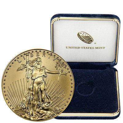 2017 $5 1/10 oz. American Gold Eagle With U.S. Mint Display Box SKU44737