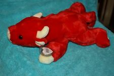 """TY BEANIE BUDDIES 15"""" 1998 SNORT the Red Bull Babies Buddy Large"""