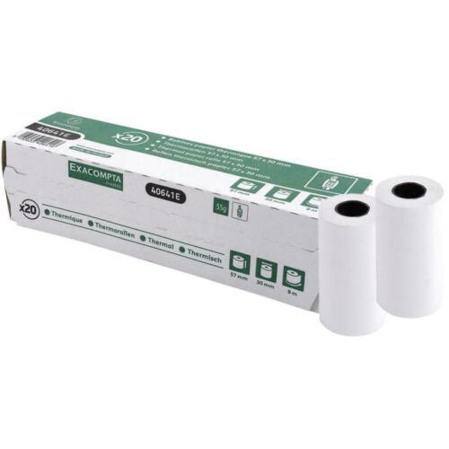 120x EXACOMPTA Thermorollen 1-lagig thermisch 55g//m² 57mm x 9m x 30mm 40641E