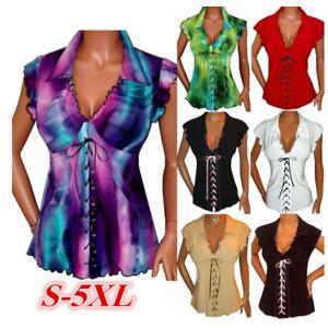 e3b4c62e6e336 Women s Gothic Ruffle Sweetheart Lace Up Corset Top Plus Size Short ...