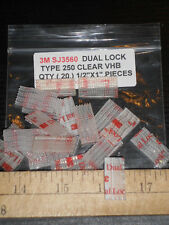 1//2 in x 3 Ft 3M Dual Lock Reclosable Fastener SJ3560 250 Clear