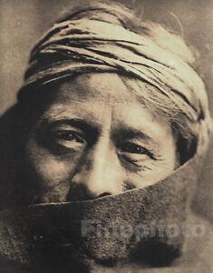 1900-72-Vintage-EDWARD-CURTIS-Native-American-Indian-Zuni-Tribe-Priest-Photo-Art