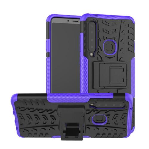 Para Samsung Galaxy A9 A8 A7 A6 2018 caso híbrido duro armadura soporte tapa dura