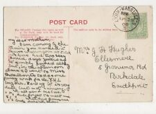 Mrs GH Hughes Ellesmere Grosvenor Road Birkdale Southport 1908  805a