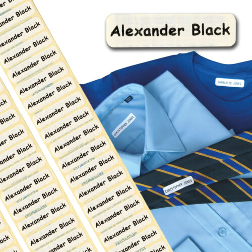50 Printed Name Labels//Tags IRON-ON School tapes Soft satin fabric INC POSTAGE