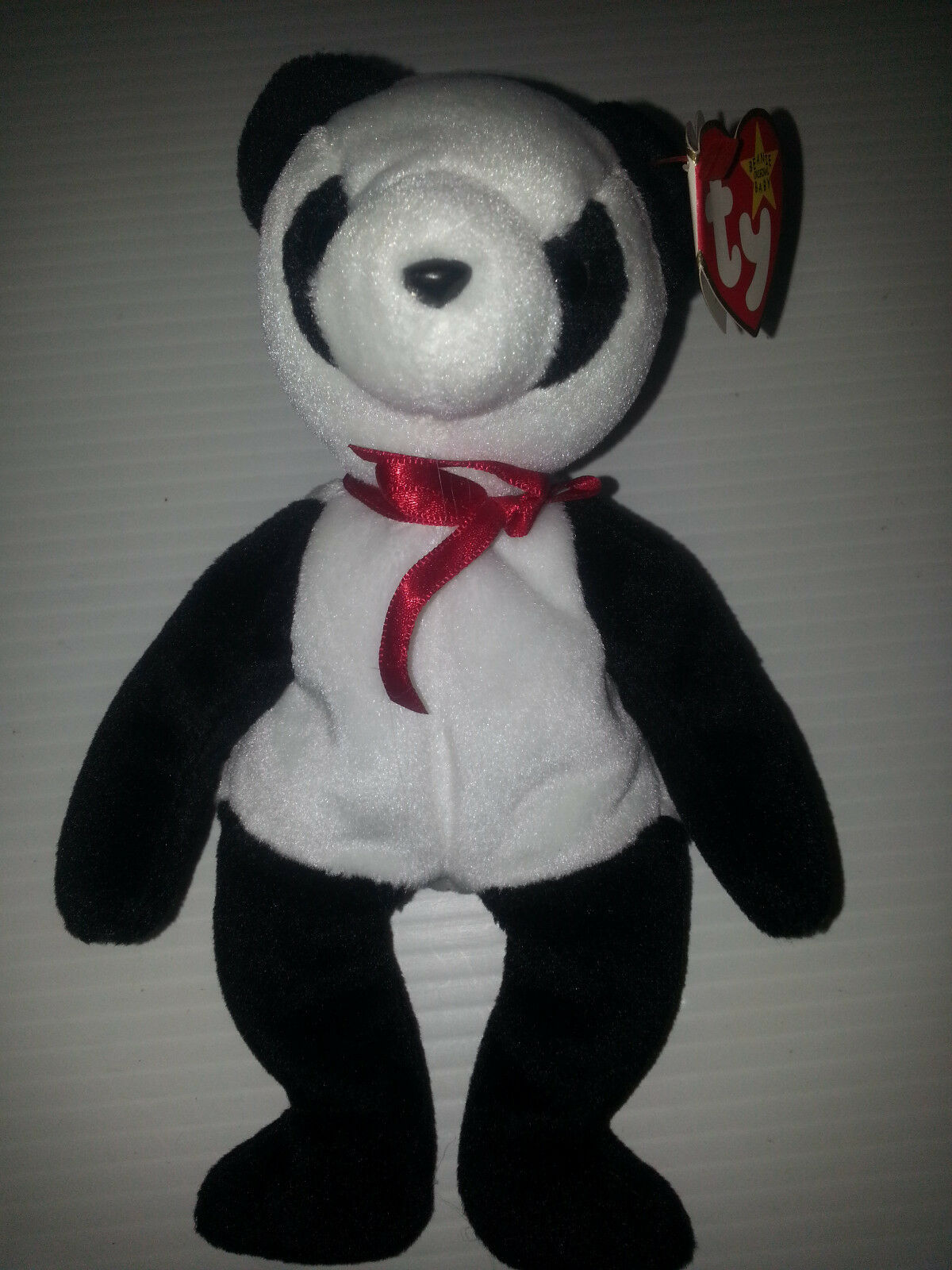 "New Rare TY Beanie Baby Baby Beanie FORTUNE Panda Bear Retired 1997 Tush  Errors Mistakes 50cb5b. "" 0b223dabbd03"