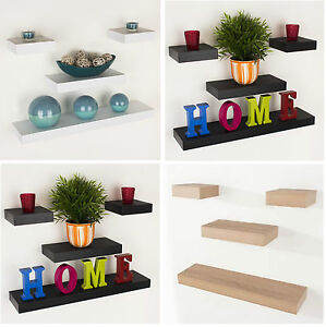 Floating-Wall-Shelf-Wood-Effect-Shelving-Shelves-Unit-Kit-Display-Home-Office