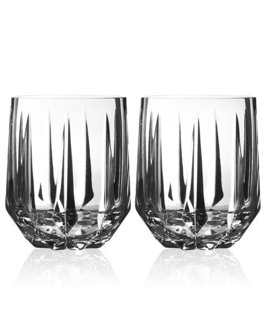 Vera Wang Wedgwood Peplum Set of 2 Double Old Fashioned Glasses NIB (S)