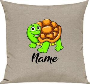 Kinder Kissen, Schildkröte Turtle mit Wunschnamen Tiere Tier Natur, Kuschelkisse