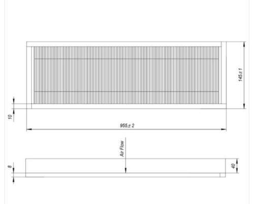 Kabinenfilter Sampo 0492348 Cabin Filter Hytin ilmansuodatin C10 C12 Rosenlew